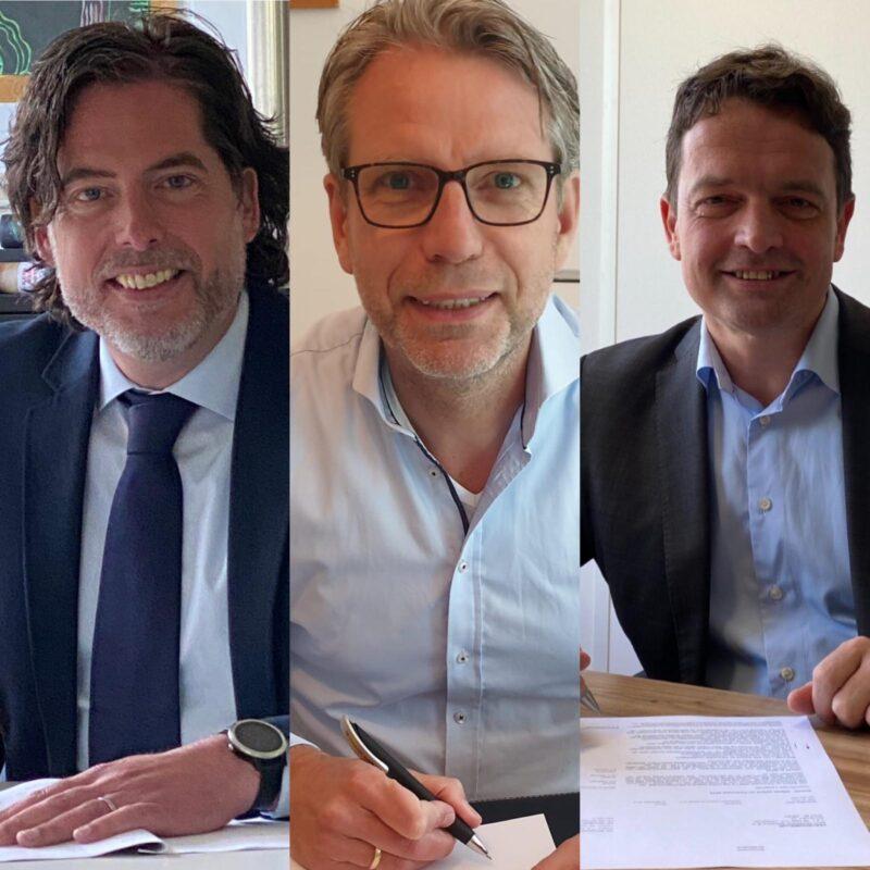 Arjen Boersma (ProRail), Raymond van Hattem (ProRail), Hans Leideman (Intus)